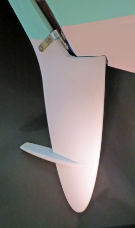 A balanced rudder that cannot foul.