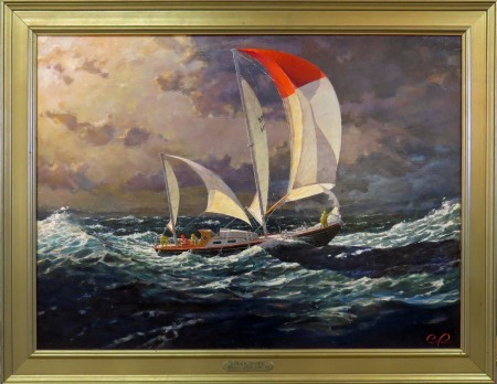 I sailed transatlantic in 1966. 48 years later, this painting is the result.