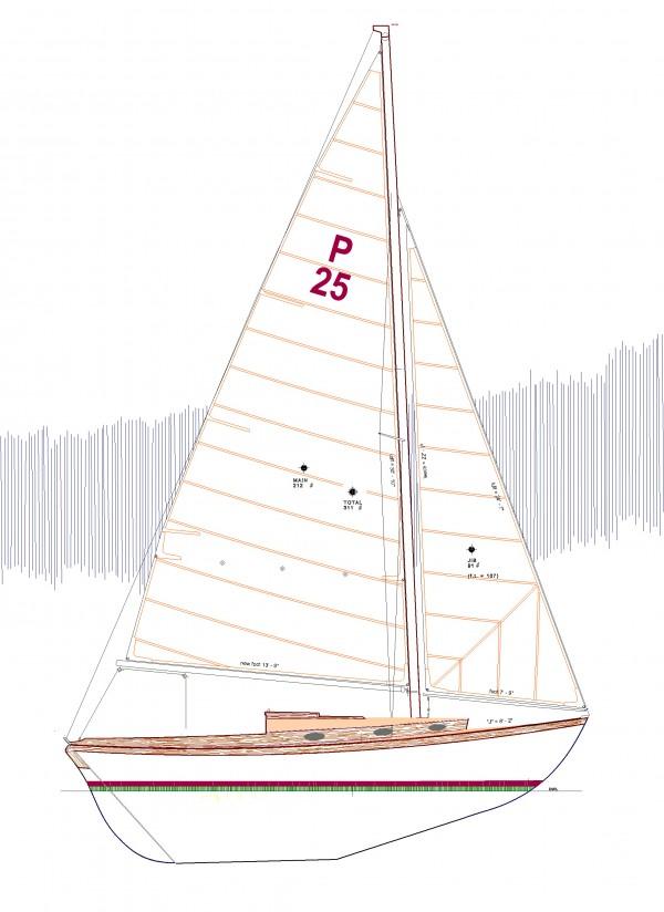 PAINE 25 SAILPLAN