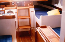 The quarterberth is the nicest one in the boat.