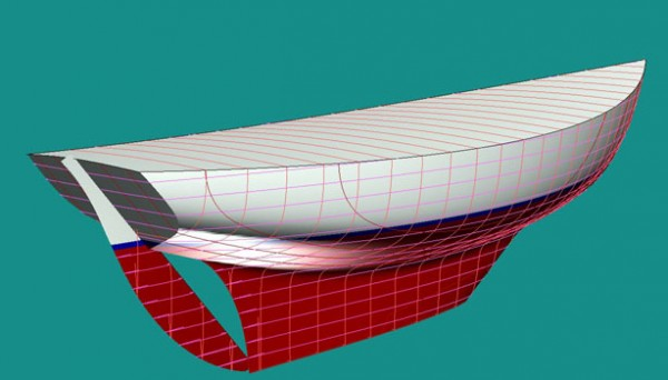 "The ""mark II"" version's keel is cutaway forward. And the innovative Paine office ""full flow aperture"" is used, allowing the rudder to be fully balanced for far better steering than any traditional long keel design."