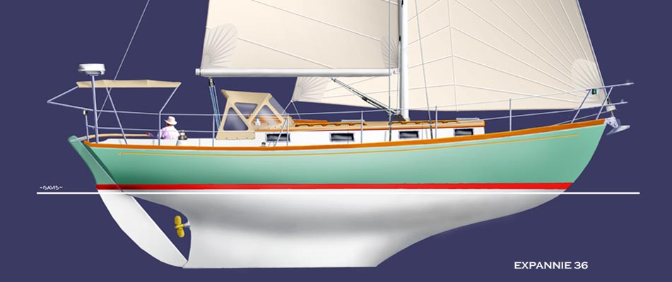 An expanded version of Chuck Paine's Annie yacht design