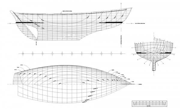 I believe this is the most beautiful set of hull lines ever drawn.