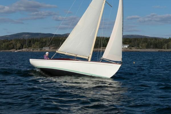 Leslie, the owner, sailing Bella Luna