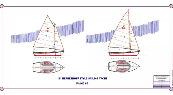 The PAINE 16 Sail Plan.