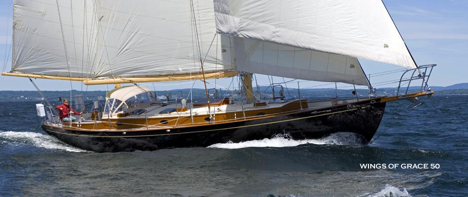 Wings of Grace built by French and Webb sailing near Belfast, ME