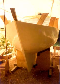 A CAROL hull under construction.