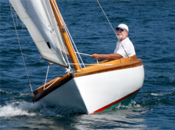 How do you achieve perfection? Start with the  world's best design, and pare away what doesn't need to be there. This is Chuck Paine sailing his 75-year-old 12 ½, PETUNIA.