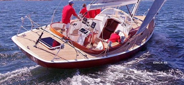 Erica, a 45-foot Spirit of Tradition racing yacht