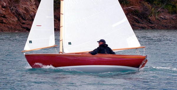 The PAINE 14 topsides replicate almost exactly the Herreshoff look. Shown is REDWING, built in New Zealand.